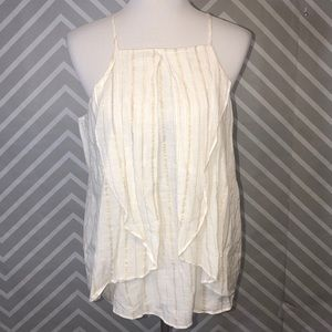 A.n.a Cream With Gold Tank NWT Size Large